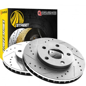 1961 Triumph TR4 Street Series Cross Drilled Slotted Brake Rotors